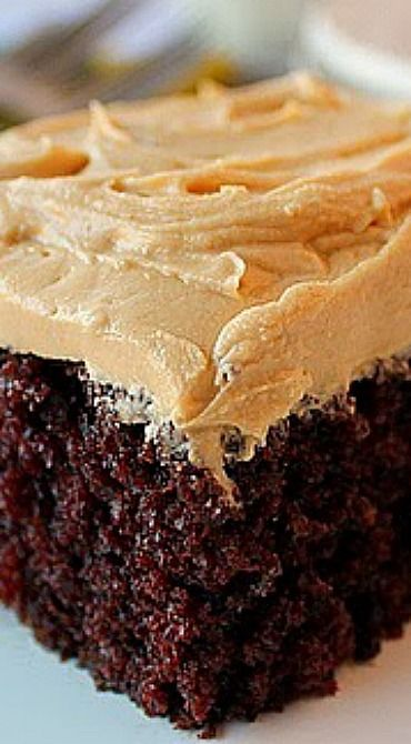 Homemade Chocolate Cake with Peanut Butter Frosting Recipe | Bunnys Warm Oven