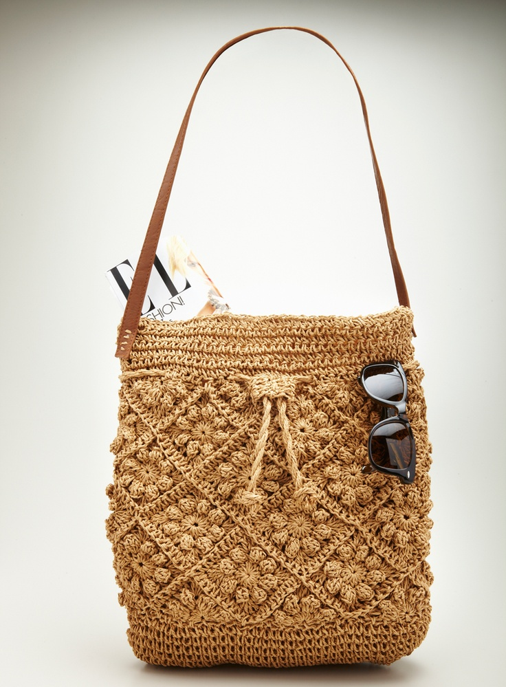 CROCHET DRAWSTRING HOBO//i can make this. try to see internal structure so see…