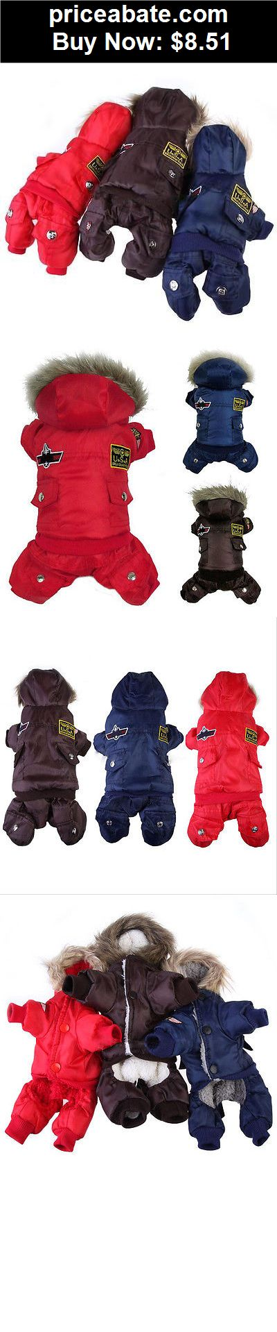 Animals-Dog: Winter Dog Pet Warm Coat Puppy Jumpsuit Pants Hoodie Down Jacket Cat Clothes U78 - BUY IT NOW ONLY $8.51
