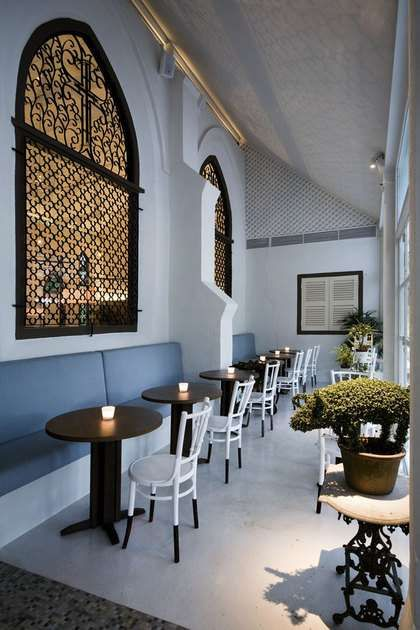 Windows / cafe / home / church / chapel / dining / renovation / repurposed / conversion /