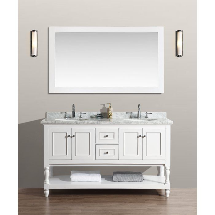 The Beautiful Amie Bathroom Vanity Set Includes Soft Closing