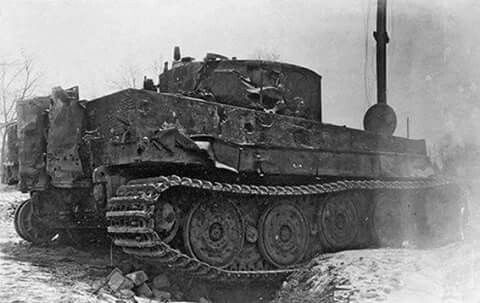 This late variant Tiger 1 was hit hard suring intense fighting