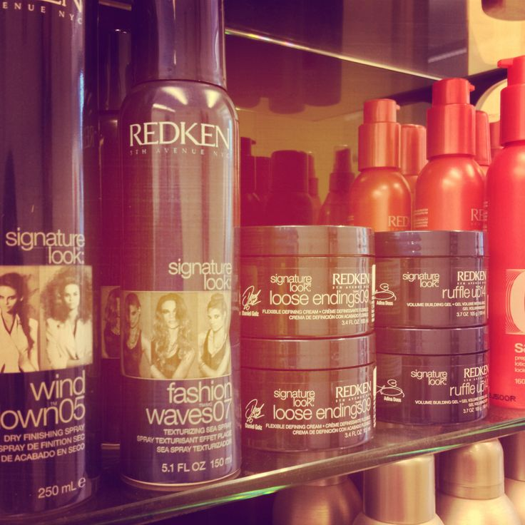 Redken signature look products.