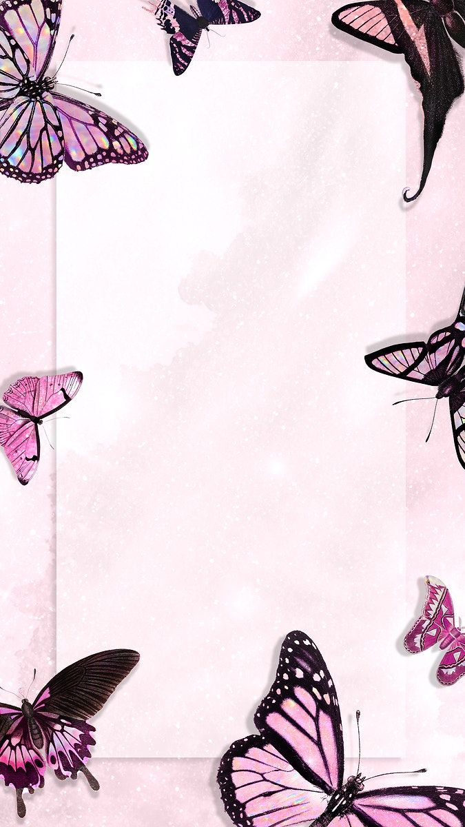 Download Premium Illustration Of Pink Holographic And Glittery Butterfly Pink Wallpaper Iphone Butterfly Wallpaper Iphone Iphone Background Wallpaper