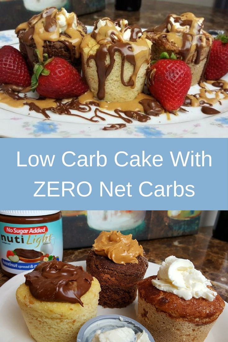 YES this is low carb! It's three flavors of low carb cake with ZERO net carbs (coconut, cinnamon & chocolate) topped with cream cheese, peanut butter & sugar free hazelnut chocolate spread. Yum!!!