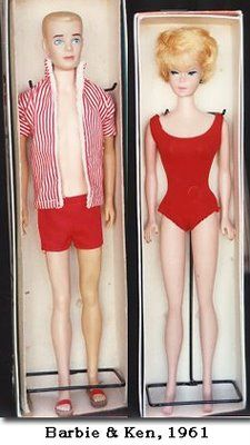 My first Barbie and Ken were just like these only with dark hair. Vintage Barbie