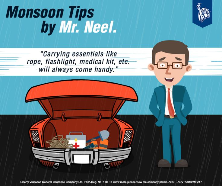 Necessities for a safe monsoon drive.