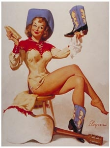 THE CHIC BIZARRE EFFECT: VINTAGE PINUP GIRLS: Pinupgirls, Polish Performing, Art, Vintage Pinup, Pinup Girls, Cowgirl Pinup, Gil Elvgren, Boots, Pin Up Girls