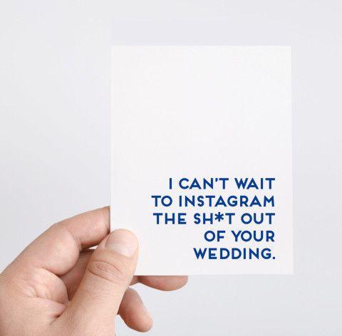 Wedding | Funny Wedding Card | Funny Engagement Card | Instagram | Wedding Hashtag Card | Congrats Card