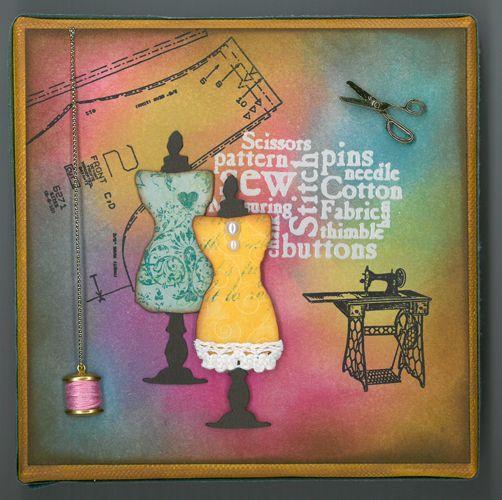 Stamp-it Australia: siset079, Sizzix Mini Sewing Room set die - Canvas by Susan