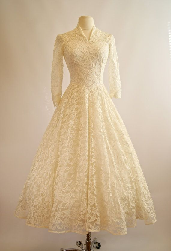 Vintage 1950s Cahill Wedding Dress 50s Cahill by xtabayvintage