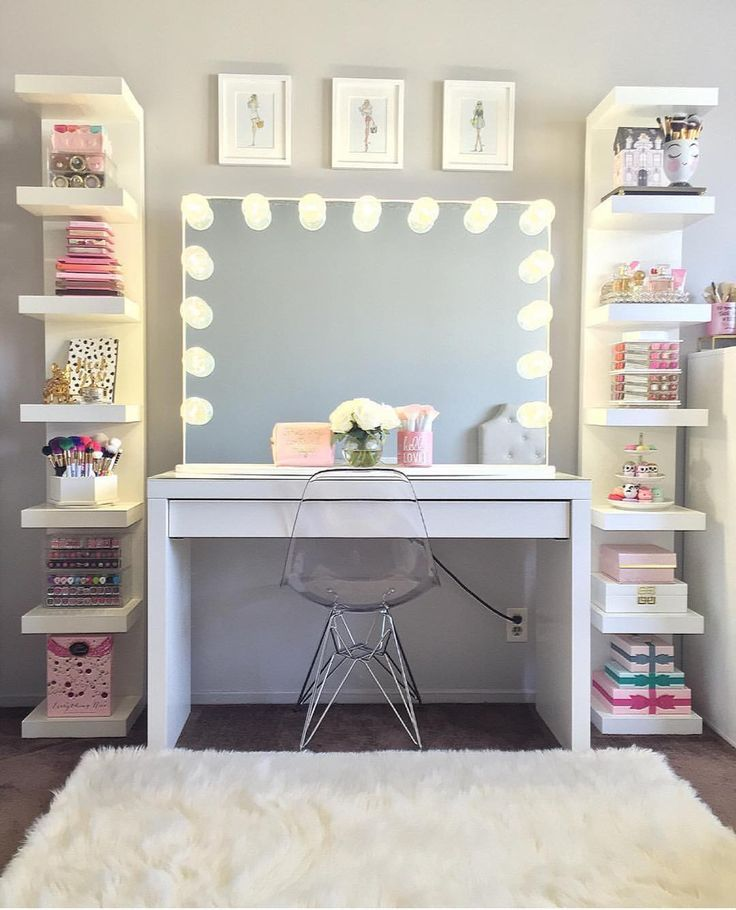 Good morning, beautiful people who love this beautiful vanity set up by @glambymissb #classywhite