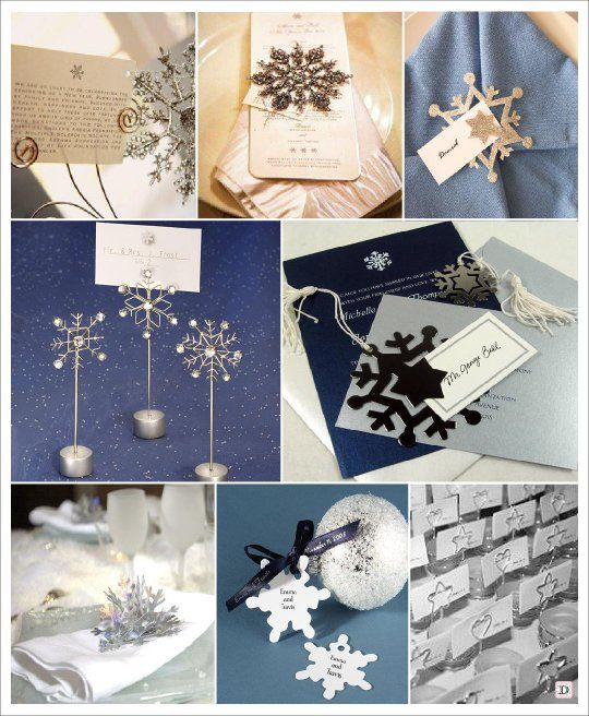 mariage hiver marque place flocon