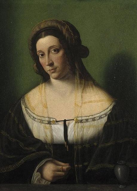 Bartolomeo Veneto Portrait of a Lady as Mary Magdalen 1520s.