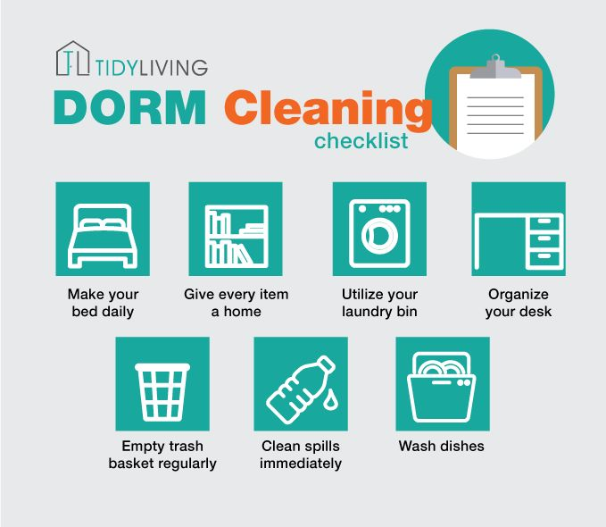 7 Quick Tips for Dorm Cleaning! Or if you're feeling lazy, enter our Dorm Makeover Contest! #TidyLiving #TidyNation #dorm #makeover