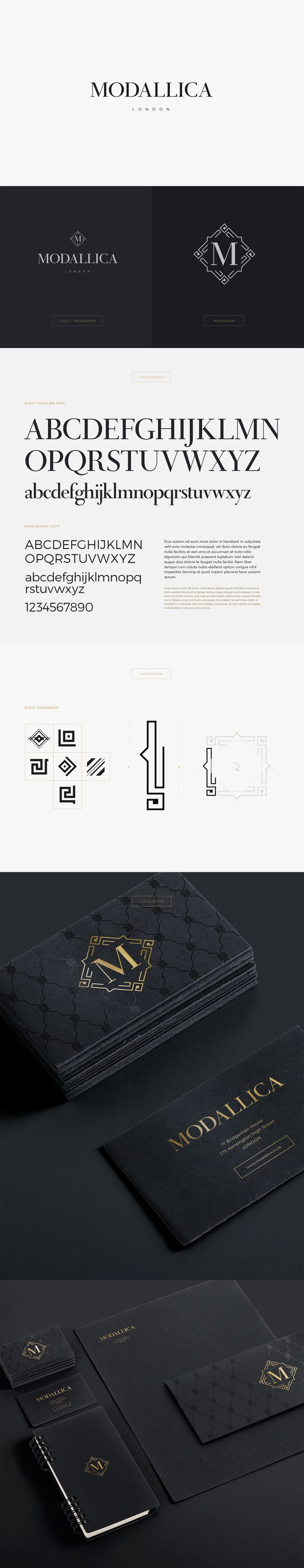 Logo design and identity elements for Modallica (London, GB)