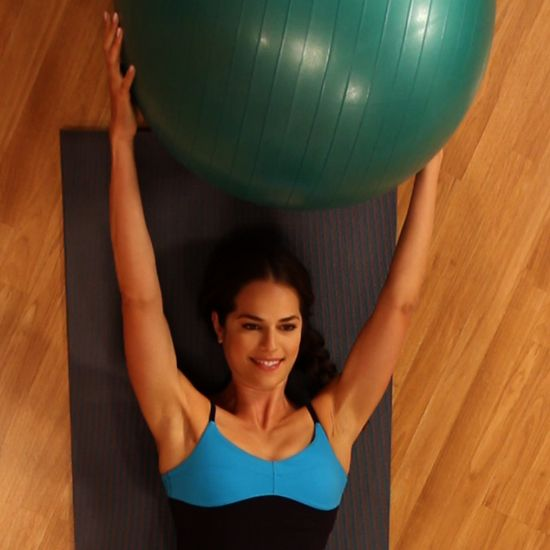 No Crunching Required: Ball Pass Ab Exercise - www.fitsugar.com