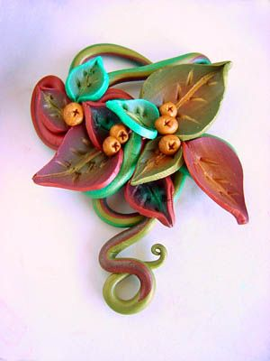 Flower ´s fantasy | Clay (& other) Jewelry | Pinterest | Clay, Polymer clay and Polymer clay flowers