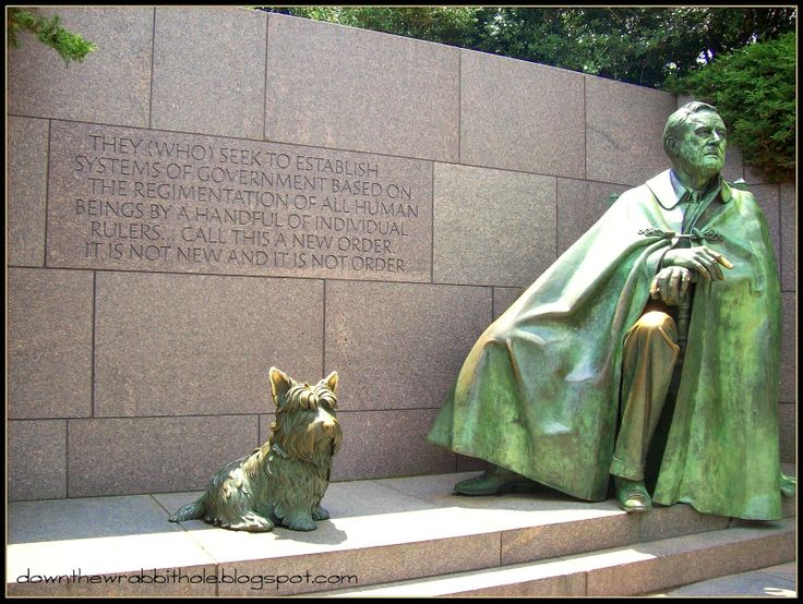 "Honor Franklin Roosevelt at his memorial in Washington DC. Find out more at ""Down the Wrabbit Hole - The Travel Bucket List"". Click the image for the blog post."