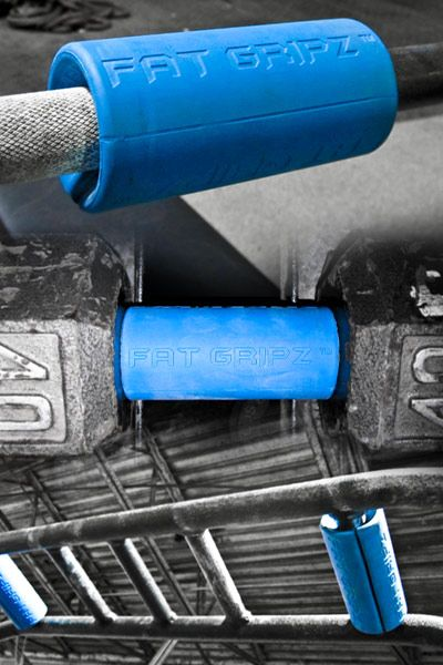 Fat Gripz™—Turn any dumbbell, bar bell or pull-up bar into a thick bar. Excellent way to improve your grip strength.