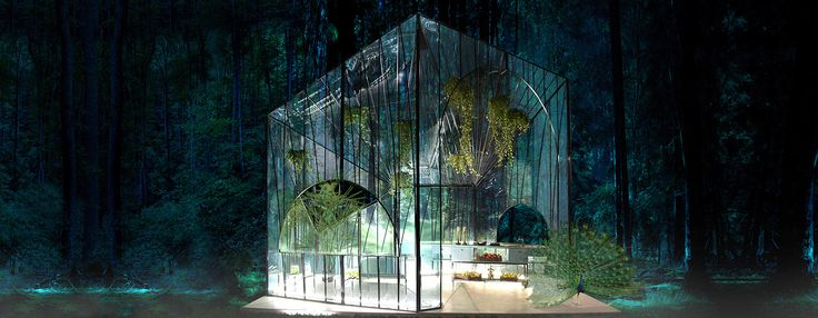 314 architecture studio sculpts bfresh spitiko pavilion as a greenhouse prism