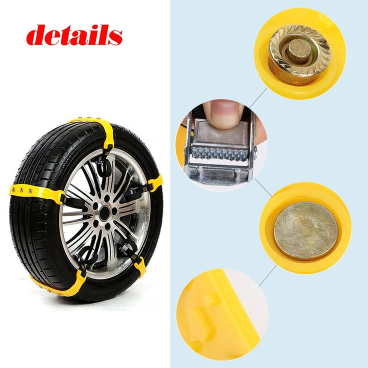 Snow Chains, Anti-skid Tire Chains Anti Slip Snow Tire Chains for Cars,width:185-295mm,10PCs (style31)