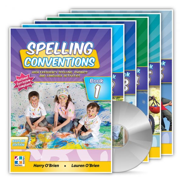 Spelling Conventions. Harry O'Brien, Managing Director of Teachers 4 Teachers Publications and best selling author in his own right, proudly presents his latest spelling series Spelling Conventions. Harry has worked for many years creating Spelling Conventions and is proud to present these high frequency word focused books to the Australian market place.