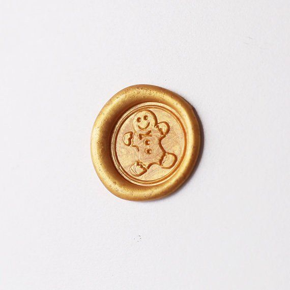 Gingerbread wax seal stamp,Christmas wax stamp,Christmas gift-ws179 – DokkiDesign