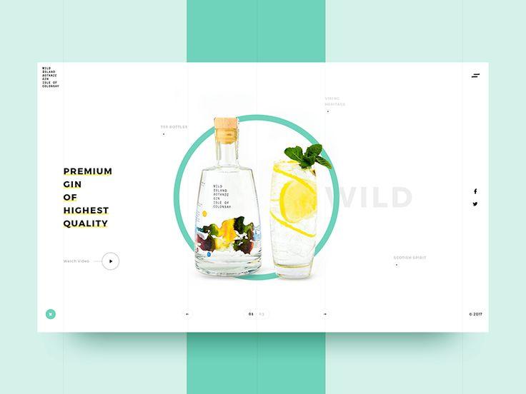 Wild Island Gin Landing Page