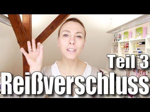 Reißverschluss #3: echter nahtverdeckter Reißverschluss - mit Anna von einfach nähen - YouTube