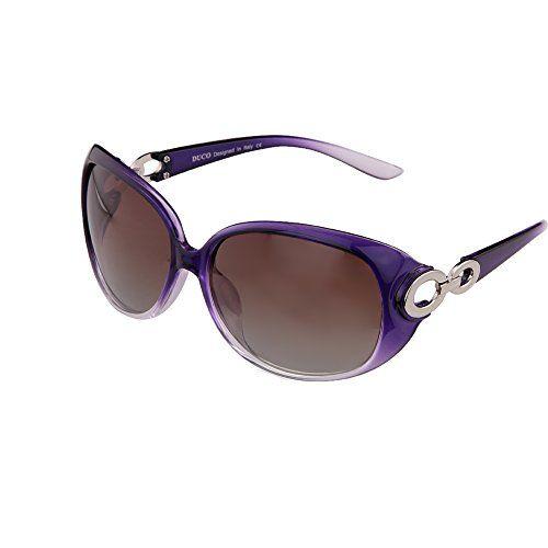 TIANLIANG04 Femmes Lunettes De Soleil Lunettes De Soleil Polarisées Tr90 Luxe Papillon Violet, Violet