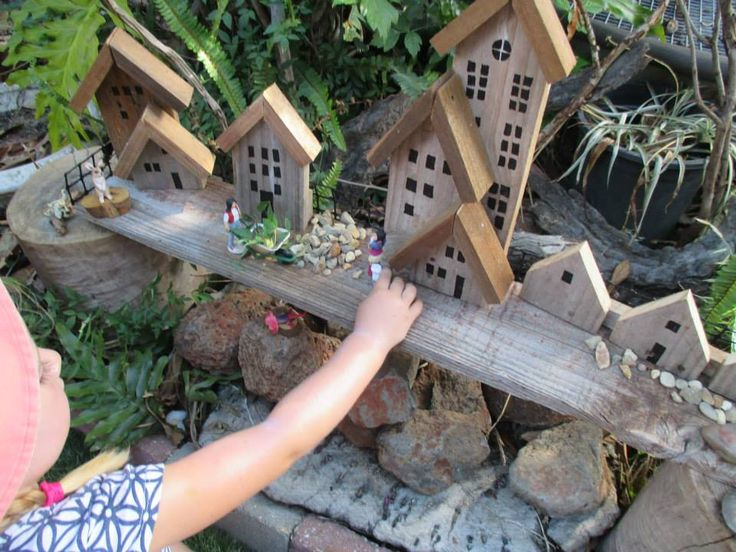 Upcycled fence for small world play @ Lyn's Family Day Care ≈≈ More