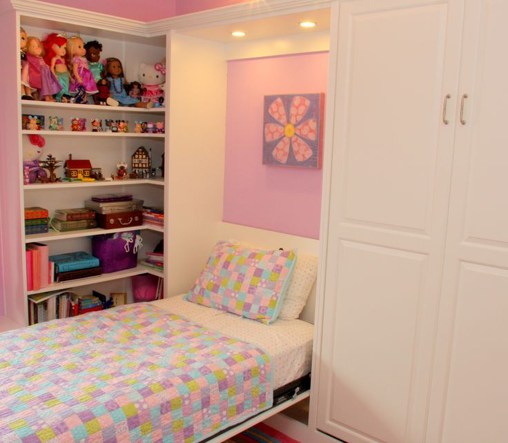 Furniture, Using Modern Murphy Beds For Tenage Girls Bedroom With Rack Of Toys And White Color Scheme Of Theme Ideas: To Decors Modern Home Urban Style With Bedroom Furniture Set Of Modern Murphy Wall Beds