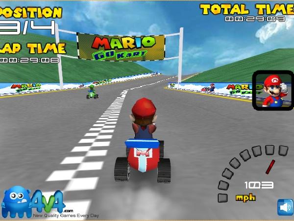 http://mariobros.trijuegos.com/2162/Mario-Go-Kart-full.html Juega a las carreras con Mario Bros Go Kart en Trijuegos divertidos juegos en 3D de carreras online gratis http://mariobros.trijuegos.com