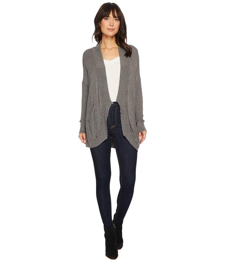 Allen Allen Thermal Sweater Long Sleeve Cardigan