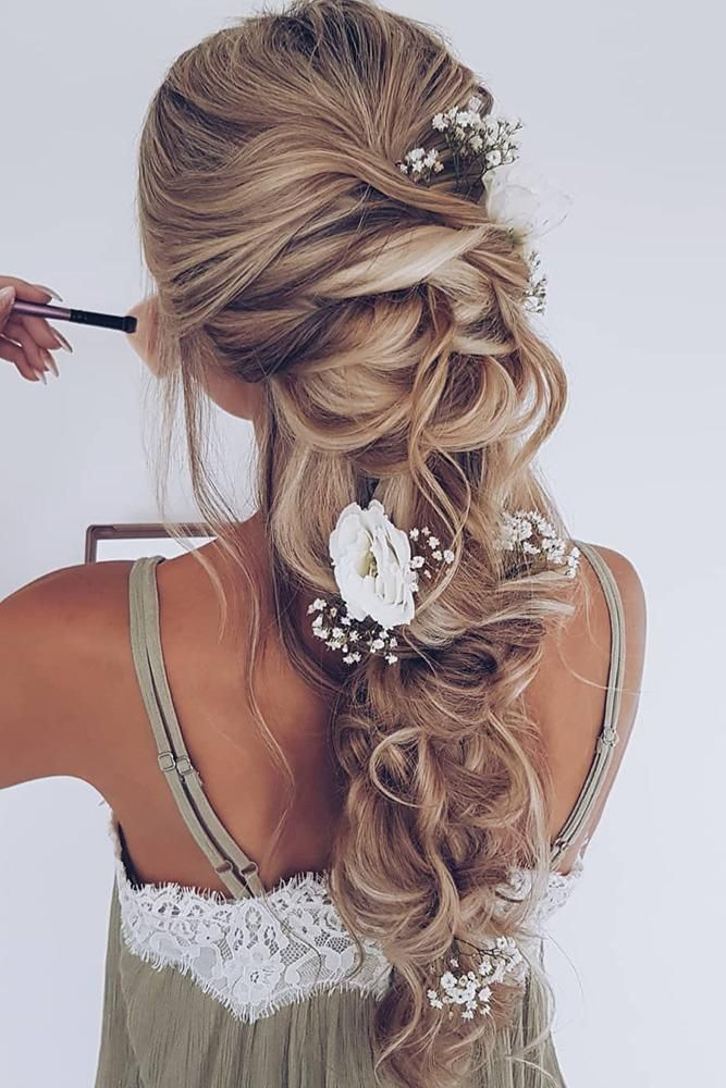 33 Wedding Hairstyles With Flowers Wedding Hairstyles Updo Messy