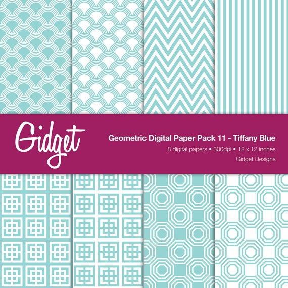 tiffany blue: Envelopes Ideas, Geometric Patterns, Crafts Ideas, Digital Papers, Chevron Envelopes, Plays Patterns, Doodles Ideas, Stores Ideas, Paper Packs
