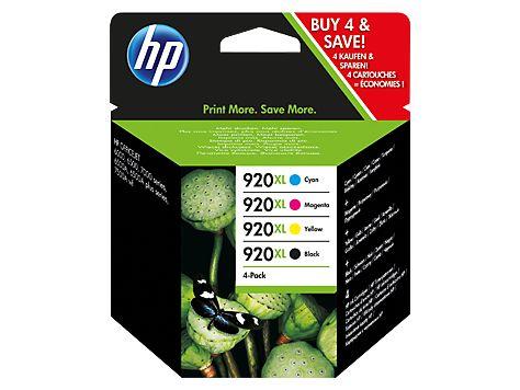 Pachet cu 4 cartuşe de cerneală originale de capacitate extinsă HP 920XL Negru/Cyan/Magenta/Galben. (C2N92AE)Prezentare generalăPachetul cu 4 cartuşe de cerneală HP 920XL Negru/Cyan/Magenta/Galben...
