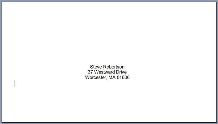 Free Envelope Address Template Awesome How To Print Envelopes At Home Step By Step Addressing Envelopes Envelope Addressing Template Mail Merge