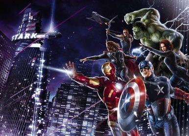 Avengers City Night Photomural