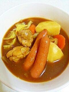 「ルー使用で簡単☆とろみスープカレー♪」ルーを使用して簡単に出来る、とろみのあるスープカレーです。隠し味は醤油☆ライスと共に♪【楽天レシピ】