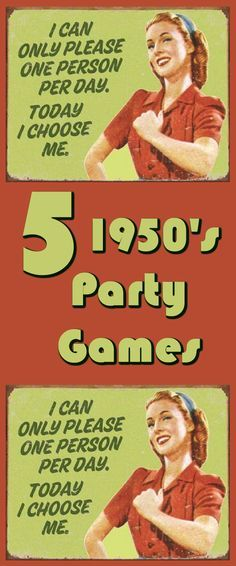 Five creative 1950s theme party games - perfect for your 50s theme party!