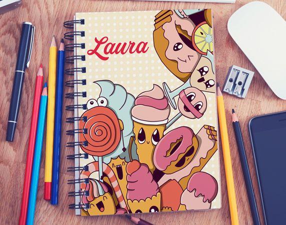 Cuaderno personalizado Vuelta al cole dulce