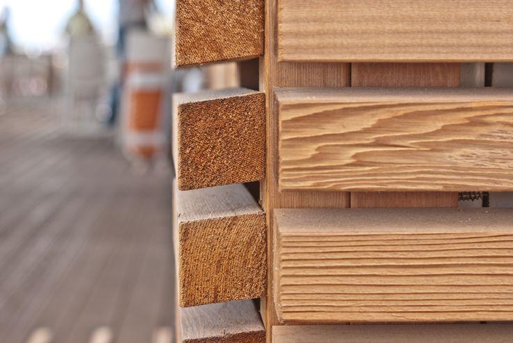 CEDRO ROSSO CANADESE. Rivestimento in legno per esterno per la copertura dello stabilimento ...