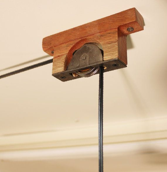 Rustic Light Industrial Chandelier Rope Pulley Yoke Wood Metal: 1000+ Images About Pulley Lights On Pinterest