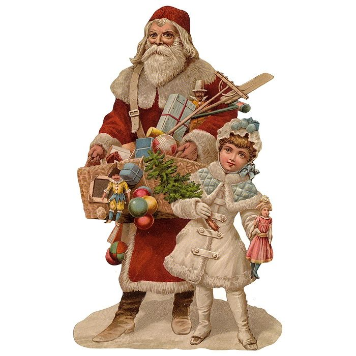 Large St. Nicholas with Toys Santa Scrap ~ Germany ~ New for 2015: