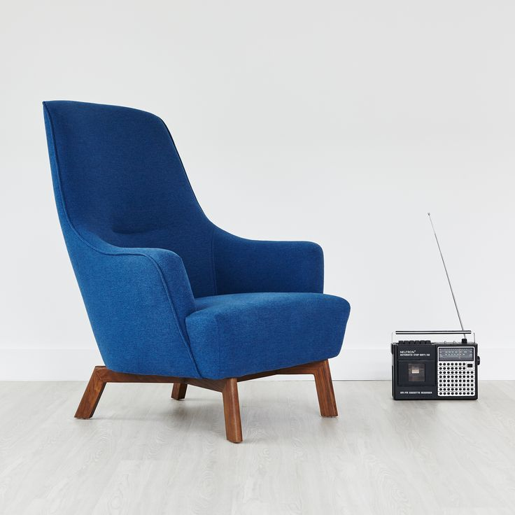 Hilary Chair - Stockholm Cobalt |  Combining fluid curves and tailored lines, the Hilary Chair is a contemporary take on mid-century Scandinavian style. | Gus* Modern
