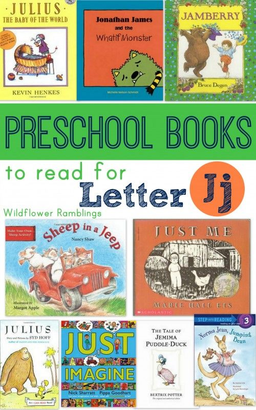 preschool books for letter j - Wildflower Ramblings
