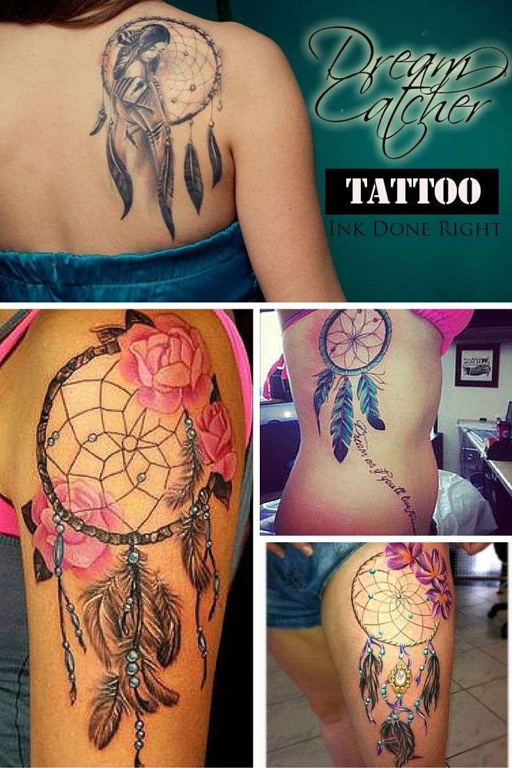 Dream Catcher Tattoos For Girls Inspiration 107 Best Dreamcatcher Tattoos Images On Pinterest  Dreamcatcher Decorating Design