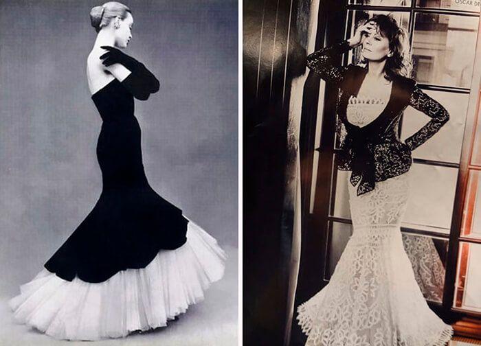Платье труба  Автор этого платья знаменитый испанский модельер Кристобаль Баленсиага. Платье великолепно прижилось в высшем обществе и даже сама Мадлен Дитрих отдавала предпочтение только этой модели.